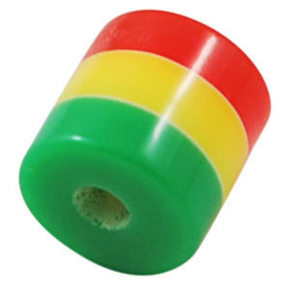 Rasta Barrel Beads