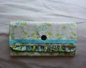 White, Green, and Blue Flagship Wallet