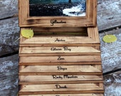 National Parks Engraved Rustic Distressed 4x6 Frames, Rustic Chic  Wood Picture Frame, Woodland Wedding, Home Decor, Cabin