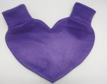 Purple Heart Shaped Lovers Mitten Snuggle down for warm romantic walks