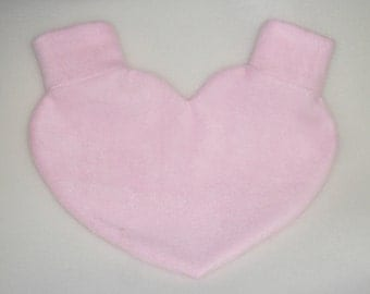 Light Pink Lovers Mitten Snuggle Heart Shaped down for warm romantic walks Snuggle down for warm romantic walks