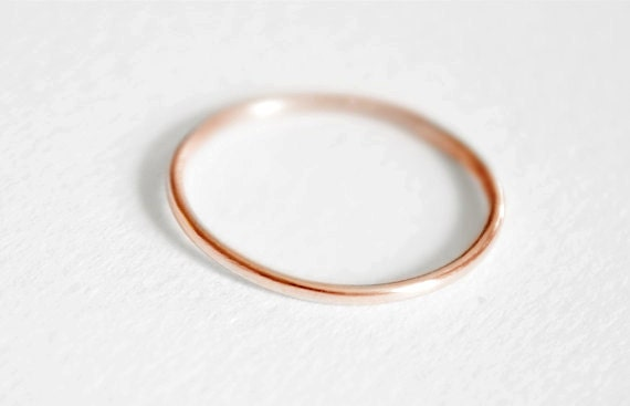Thin 14kt Pink Gold Comfort Fit Band
