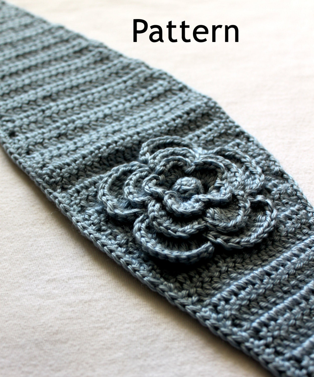 Free crochet pattern for wide headband with flower manet for crochet pattern for headbandearwarmer with flower an bankloansurffo Choice Image