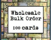 Wholesale Bulk Order 100 Note Cards - Wholesale cards, bulk cards, wholesale greeting cards, wholesale notecards, mixed media art