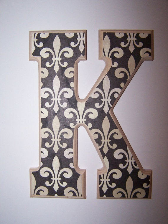 Wooden Wall Letter Design 18 Fleur De Lis Comes With Your