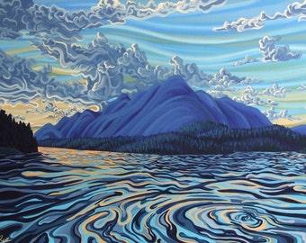 Lake Koocanusa, 8X10, art print, ready to hang
