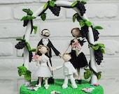 Vineyard outdoor wedding, family custom cake topper Decoration gift keepsake