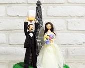 Eiffel Tower, wish lantern custom wedding cake topper decoration gift keepsake