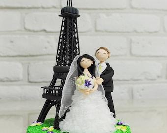 Paris Eiffel Tower personalized wedding cake topper Gift Decoration - Honymoon to Paris