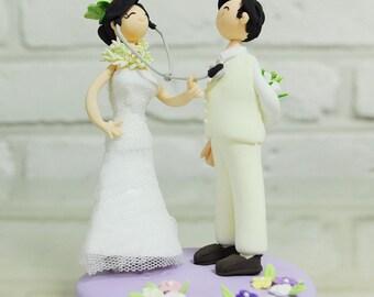 Doctor Nurse custom wedding cake toper Decoration Gift Keepsake