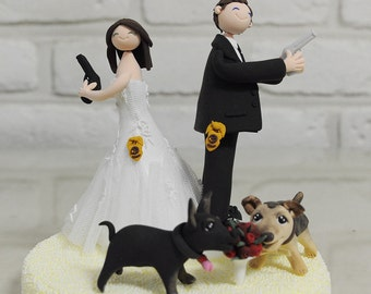 Police, Agent, Law inforcement custom wedding cake topper gift decoration