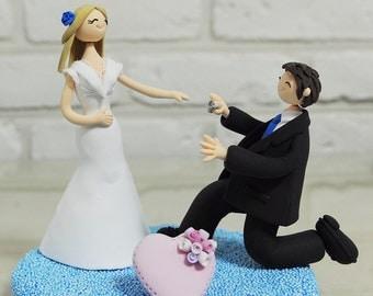 Custom Wedding Cake Topper  - Please Be Mine -