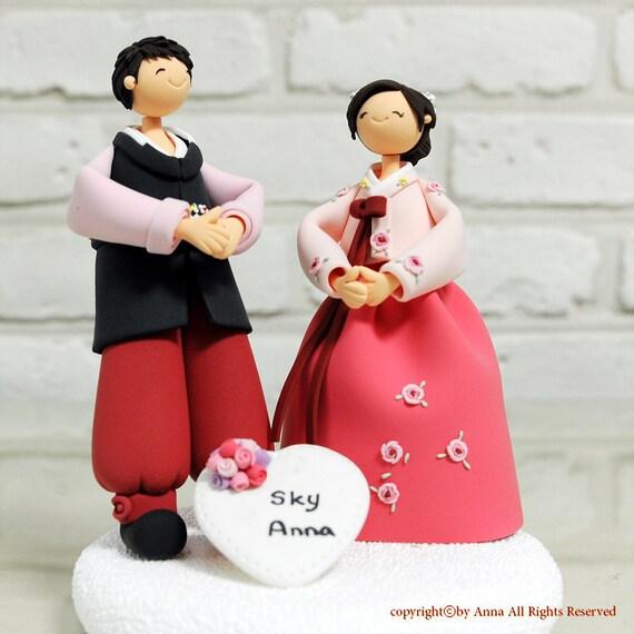 Items Similar To Korean Hanbok Wedding Cake Topper