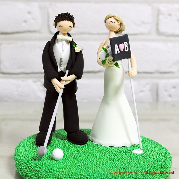 wedding cake toppers bride and groom golf items similar to golfer golf mania custom wedding cake 26410