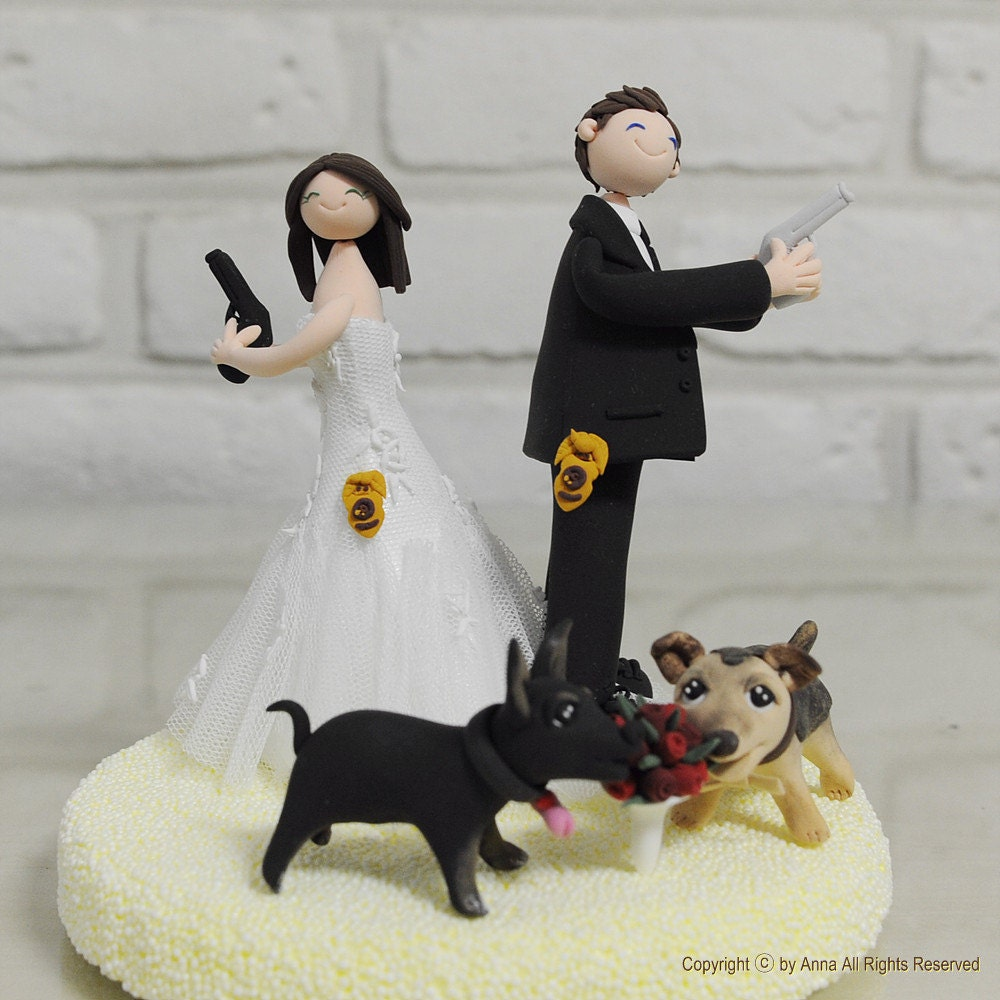 police couple wedding cake toppers inforcement custom wedding cake topper gift 18669