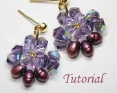 Beading Tutorial - Beaded Vanda Orchid Earrings