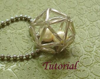 Beading Tutorial - Beaded Hollow Ball Pendant