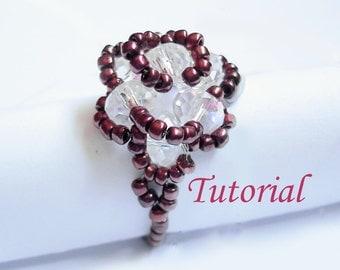 Beading Tutorial - Beaded Vintage Rose Ring