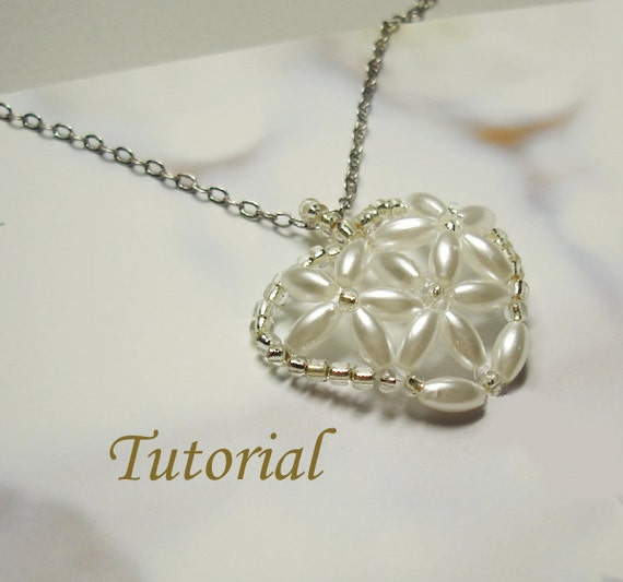Beading Tutorial - Beaded Lilies Of The Heart Pendant Pattern
