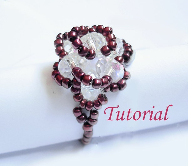 Beading Tutorial Beaded Vintage Rose Ring
