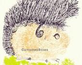 "RESERVED FOR JESS- Robert, the Hairdresser Guinea Pig- 8.3"" x 11.7"" Limited Edition Illustration Art Print"