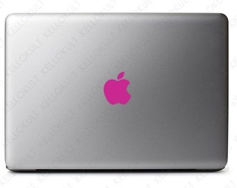 "Macbook Pro 13"" & 15"" Apple Logo Decal - Hot Pink"