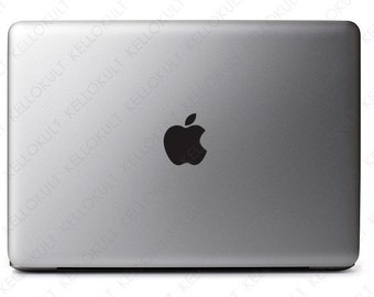 "Macbook Pro 13"" & 15"" Apple Logo Decal - Black"