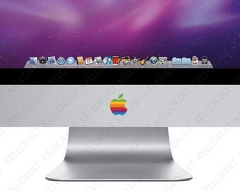 Apple iMac Retro Apple Logo Decal