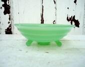 1940s Early Fenton Jade Green Candy Dish