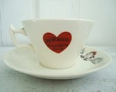 Vintage Romany Fortune Telling Tea Cup and Saucer