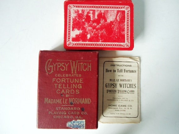 Fortune Telling Card Deck Le Normand - Rare Original Le Normand - Dated 1903 - Mint Condition
