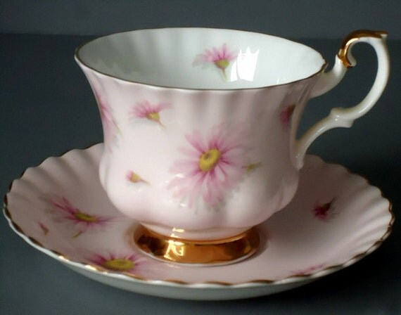 Vintage Tea Cup and Saucer Set,  Pink Royal Albert Teacup and Saucer, Vintage Royal Albert Pink Tea Cup and Saucer