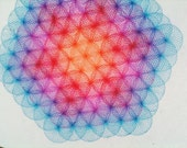 flower of life spirograph // original ink drawing by kelly mcgrath