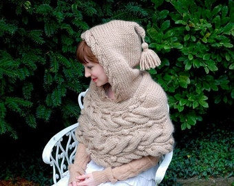 woodland hoodlet KNITTING PATTERN