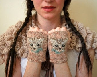 meow mitts KNITTING PATTERN