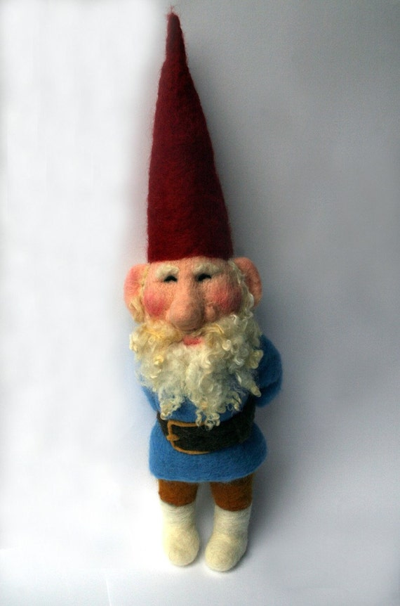 Needle Felted Fairytale Gnome