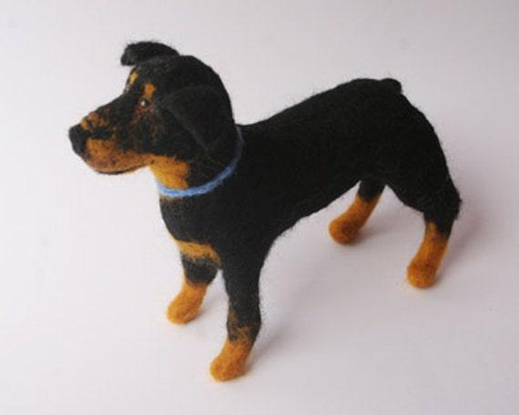 Rottweiler Dog Sculpture