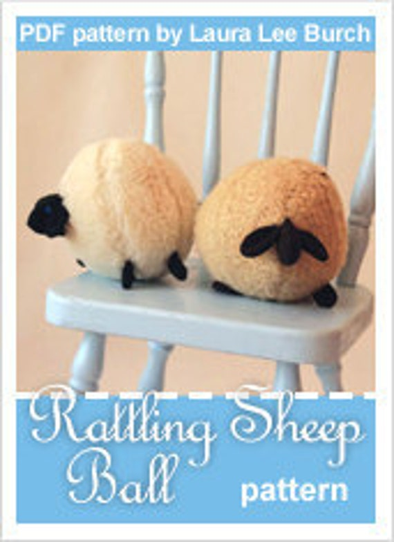 PATTERN: Sheep Ball Toy & Rattle