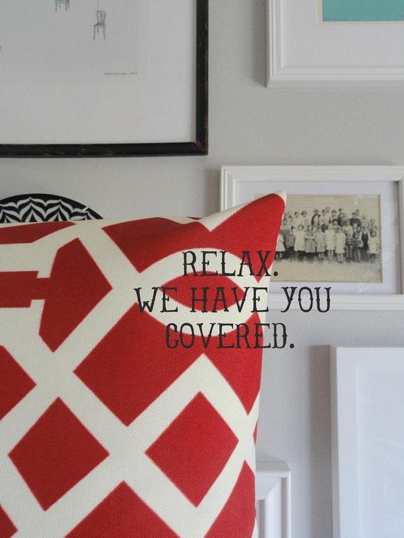 Designer Decorative Pillow - Indoor Outdoor - Kirkwood Cherry - 18 inches - Pillow Cover
