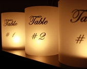 Table Number Luminaries - Reserved Listing for Andrea