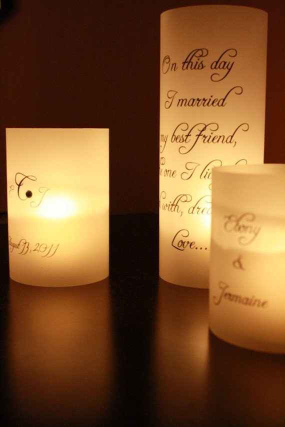 Items similar to centerpiece luminaries quotes