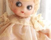 Antique bisque cupie doll flapper