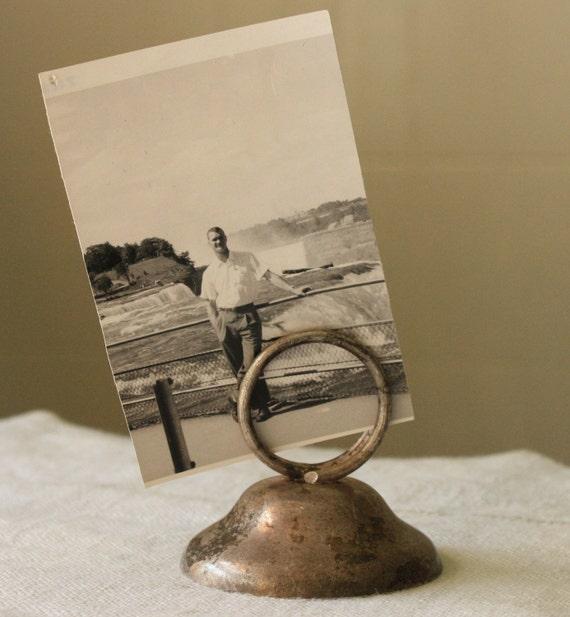 Vintage photo/paper holder