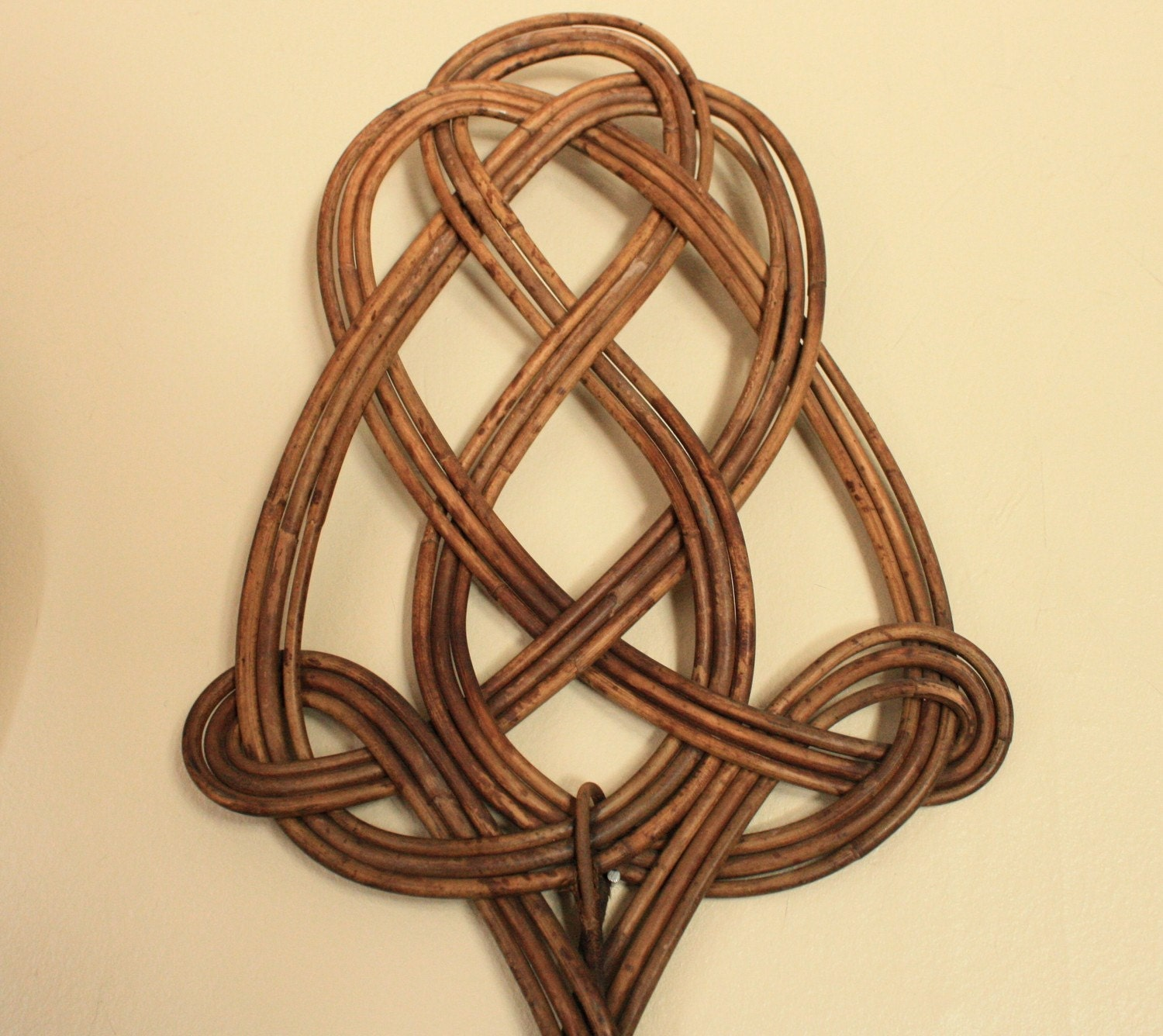 Antique French Rattan Rug Beater