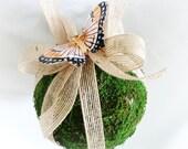 Flower Girl Pomander - Moss Pomander - Shabby Chic - Wedding Accessory
