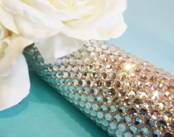 Custom Crystal Bridal Bouquet Jeweled Handle - Ultimate Bouquet Jewelry - Wedding Bling