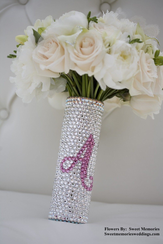 bridal bouquet handle swarovski crystal bouquet handle with. Black Bedroom Furniture Sets. Home Design Ideas