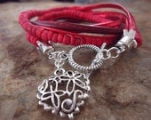 MEXCLA IN RED Wrap Bracelet with coconut Beads (20)