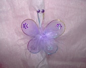 RESERVED for AntoniaJ26 ONLY Lavender Marabou Butterfly Hair Clip with lavender headband