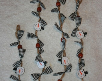 Christmas Garland -Snowman (Large Beads)
